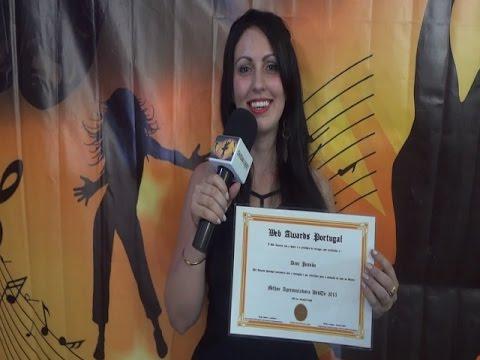 Apresentadora Dani Pessôa dedica sua Premiação