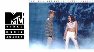 Video The Chainsmokers - Closer (Live from the 2016 MTV VMAs) ft. Halsey MP3, 3GP, MP4, WEBM, AVI, FLV Januari 2018