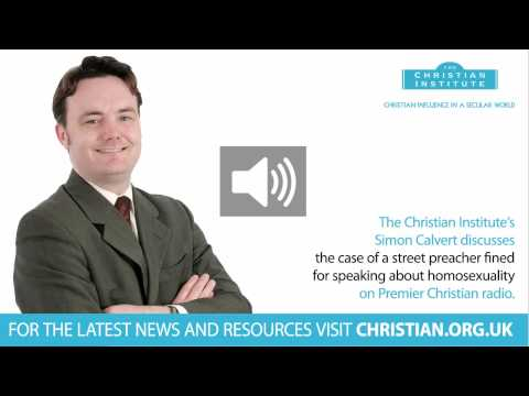 Christian preacher fined for speaking on homosexuality