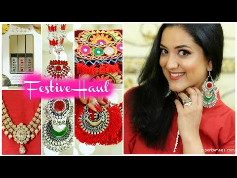 Diwali Festive Shopping Haul | Jewellery Clothing and Accessories | Perkymegs