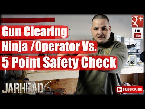 Gun Clearing: Ninja & Operator Vs. 5 Point Safety Check! (видео)