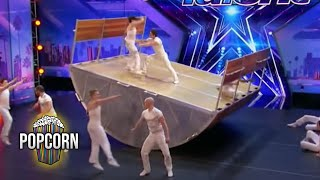 Video America's Got Talent 2017 Diavolo High Flying Dangerous & Innovative Acrobatic Group Full Audition MP3, 3GP, MP4, WEBM, AVI, FLV Mei 2018