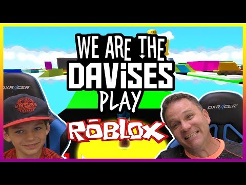 Father Son Parkour | Roblox Easy Obby Ep-2 | We Are The Davises Gaming