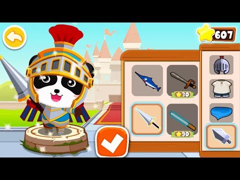 【New】Super Panda Knight's Mission | Panda's Jewel Hunt | Logic Game for Kids|BabyBus Game (видео)