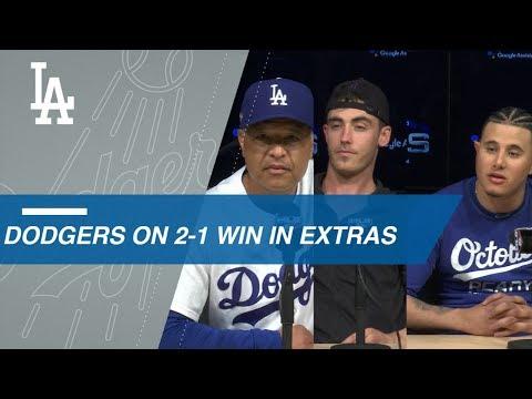 Video: NLCS Gm4: Roberts, Bellinger, Machado on Game 4 win