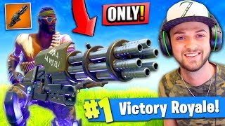 Video WINNING using *ONLY* the MINIGUN in Fortnite: Battle Royale! (CHALLENGE) MP3, 3GP, MP4, WEBM, AVI, FLV Agustus 2018