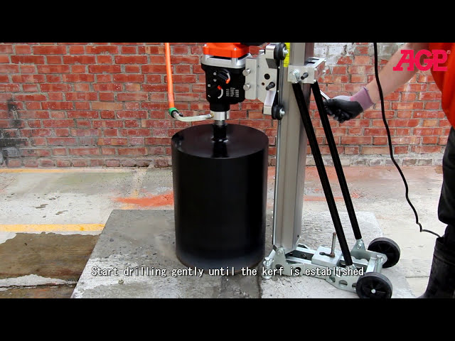 AGP DM10, DM14 Rig Mounted Diamond Core Drill - Operation