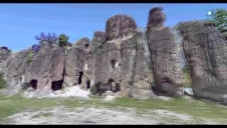 meram ilçesikilistra antik kenti nokta bulutu animasyonu