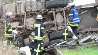 Lkw-Unfall bei Stendal