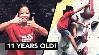 Meet Abby: 11 Year old passionate rock climber by  rockentry