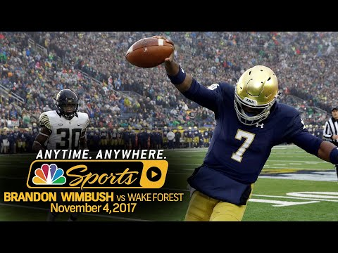 Video: Highlights of Brandon Wimbush's 280 yard day for Notre Dame