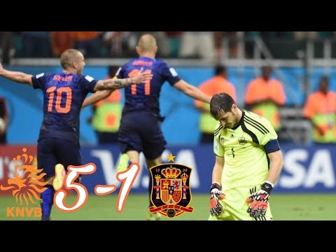 Netherlands vs Spain 5-1 All Goals And Highlights - FIFA World Cup 2014