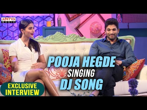 Video Pooja Hegde Singing Dj Song | Allu Arjun & Pooja Hegde Exclusive Interview About DJ download in MP3, 3GP, MP4, WEBM, AVI, FLV January 2017
