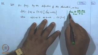 Mod-32 Lec-34 Differentiability Of Real Valued Function, Mean Value Theorem