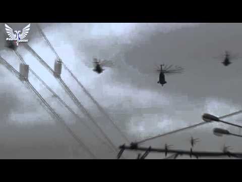 Massive Russian Helicopters Formation Massive...