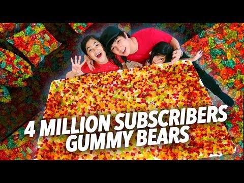 Download Lagu 4 MILLION GUMMY BEARS SUBSCRIBERS PARTY   Ranz And Niana Music Video