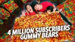 Video 4 MILLION GUMMY BEARS SUBSCRIBERS PARTY | Ranz and Niana MP3, 3GP, MP4, WEBM, AVI, FLV Mei 2019