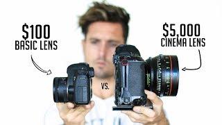 Video $100 Camera Lens VS. $5,000 Cinema Lens   Explained MP3, 3GP, MP4, WEBM, AVI, FLV Juli 2018