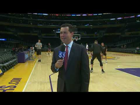 Pingalore Hit By Basketball during Lakers Pre-Game Appearance on KTLA