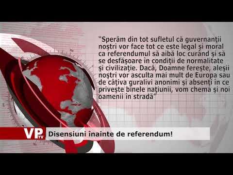 Disensiuni înainte de referendum