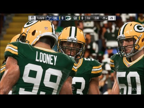 Madden NFL 19 - Green Bay Packers vs Dallas Cowboys - Gameplay (HD) [1080p60FPS]