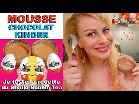 Mousse chocolat kinder test recette studio bubble tea virginie fait sa cuisine 41 watch - Virgine fait sa cuisine ...