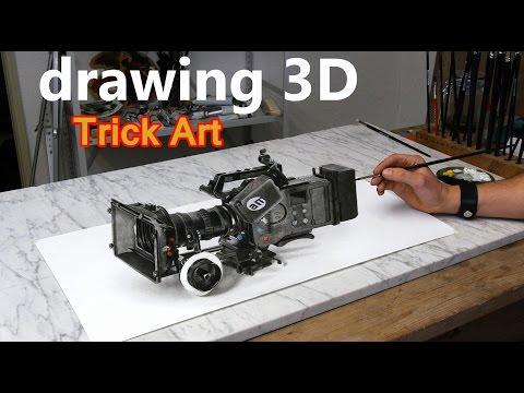 Taiteilija maalaa 3D-videokameran – Todella mahtava lopputulos!