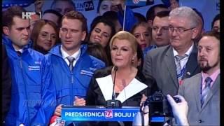 Kolinda Grabar Kitarović prva hrvatska predsjednica! Pobjednički govor