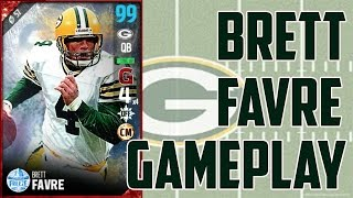 GUNSLINGER 96 BRETT FAVRE GAMEPLAY AND REVIEW!!! - Madden Ultimate Team 17