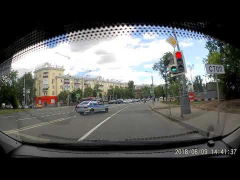 ДТП с полицией в Москве