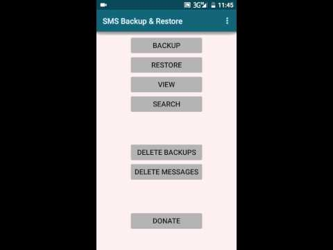 How to Backup and Restore SMS any Android Phone