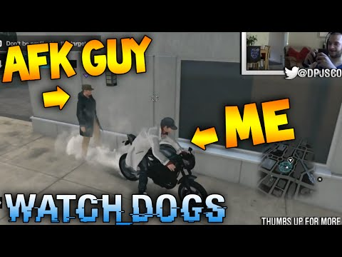 Lol - This is hilarious & still makes me laugh! AFK Dude Owned ME! Gotta be worth a like? :) More Watch Dogs! Secrets & Easter Eggs - http://goo.gl/hSF7ZR Live Online Hacking & MP - http://goo.gl/sgtfJZ...