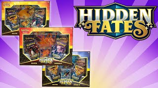 Pokemon Hidden Fates Charizard, Gyarados, and Raichu GX Hidden Fates Collection Boxes! by The Pokémon Evolutionaries