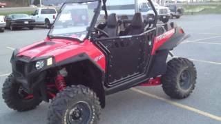 11. 2012 Polaris Ranger RZR XP 900 Indy Red with Pro Armor Doors, Top, Windshield and Modified Exhaust