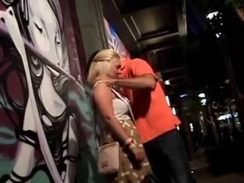 orgasm hypnosis - Las Vegas Street Hypnosis Blond Girl Getting Orgasm on the street in Las Vegas.