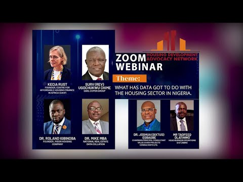 Webinar: What has data got to do with the housing sector in Nigeria - HDAN