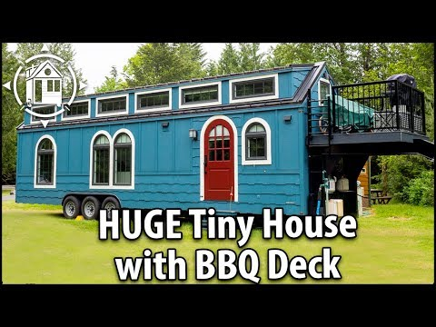 Big Fancy TINY HOUSE with BBQ Deck, Three Bedrooms & Every Creature Comfort