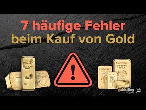 Gold kaufen: 7 häufige Fehler beim Kauf von Goldbarren