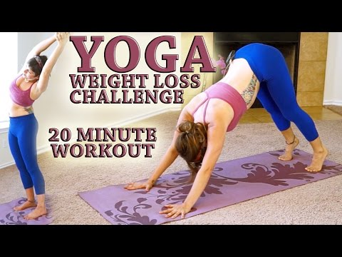Weight Loss YOGA Challenge Workout 3- 20 Minute Fat Burning Yoga Meltdown Beginner & Intermediate