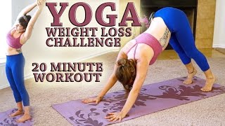 Weight Loss YOGA Challenge Workout 3- 20 Minute Fat Burning Yoga Meltdown Beginner & Intermediate - YouTube