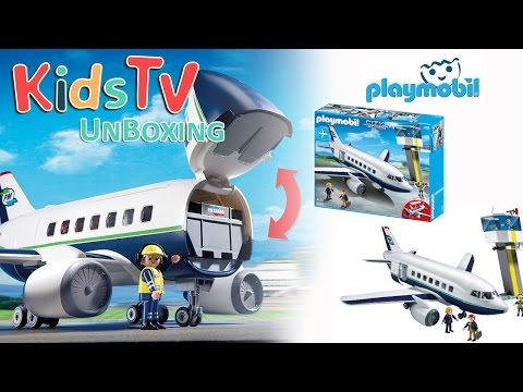 Playmobil 5261 Cargo And Passenger Aircraft Unboxing And Playtime With Gideon And Logan