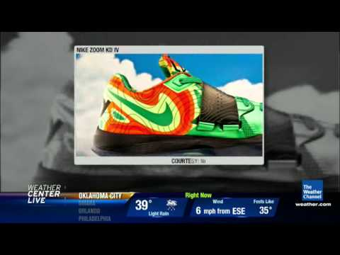 0 Nike Zoom KD IV Weatherman Featured On The Weather Channel