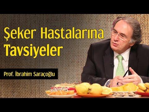 Şeker Hastalarına Tavsiyeler   Prof. İbrahim Saraçoğlu