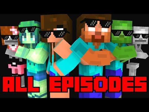 Monster School : All Episodes ! ( Season 1-4  ) - full Minecraft Animation