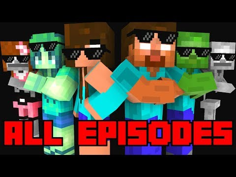 Monster School : All Episodes ! ( Season 1-4  ) - Full Minecraft Animation