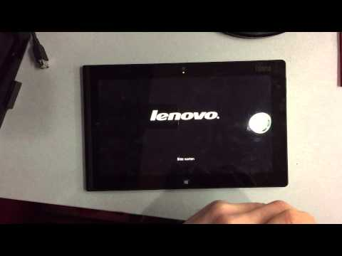 How to put Lenovo ThinkPad Tab Windows 8 on Advanced Recovery