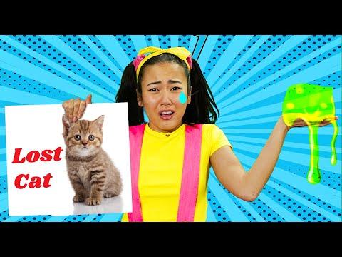 Ellie Lost Her Cat | Make DIY Flyer with Arts & Crafts At Home