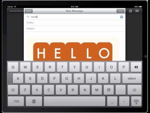 How to send email with the mail attachment image storage option - Awesome Mails HD iPad App