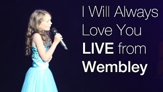 Whitney Houston - I Will Always Love you - LIVE Wembley Arena - 11 year old Sapphire