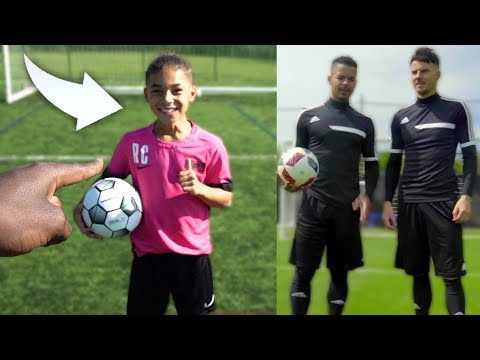 ME vs CRISTIANO RONALDO JR ft F2FREESTYLERS!! AMAZING KID FOOTBALLER